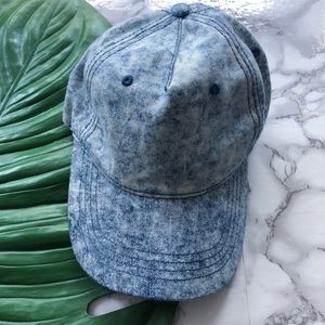 NEW Acid Washed Denim Baseball Hat